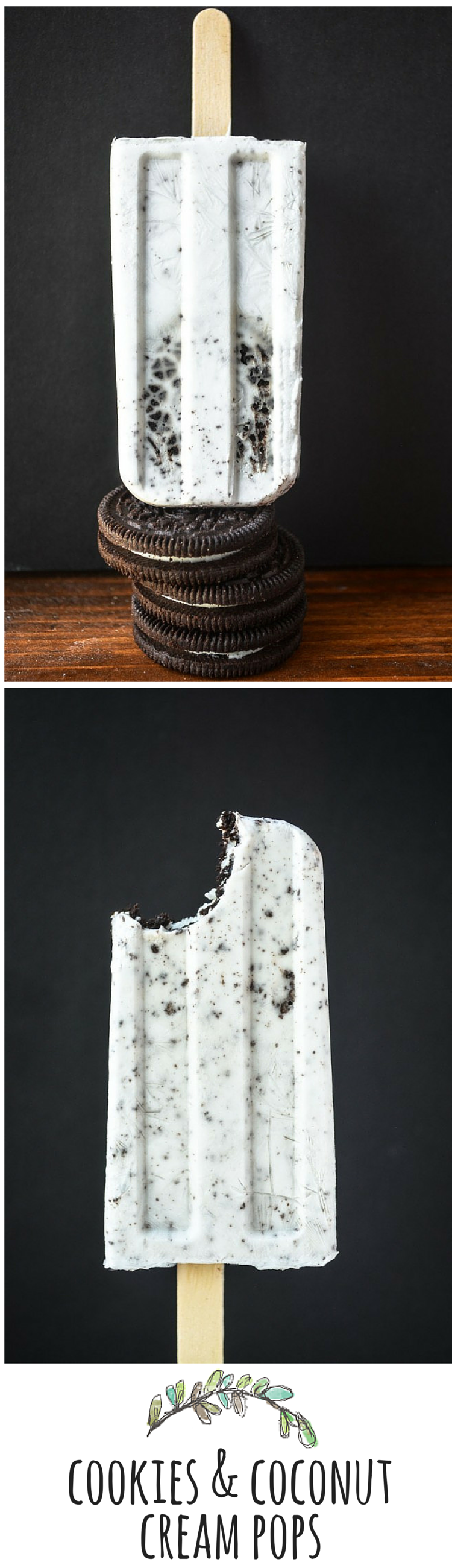 Creamy, dreamy, Oreo cookies blended with healthy coconut milk for a fabulously refreshing popsicle!