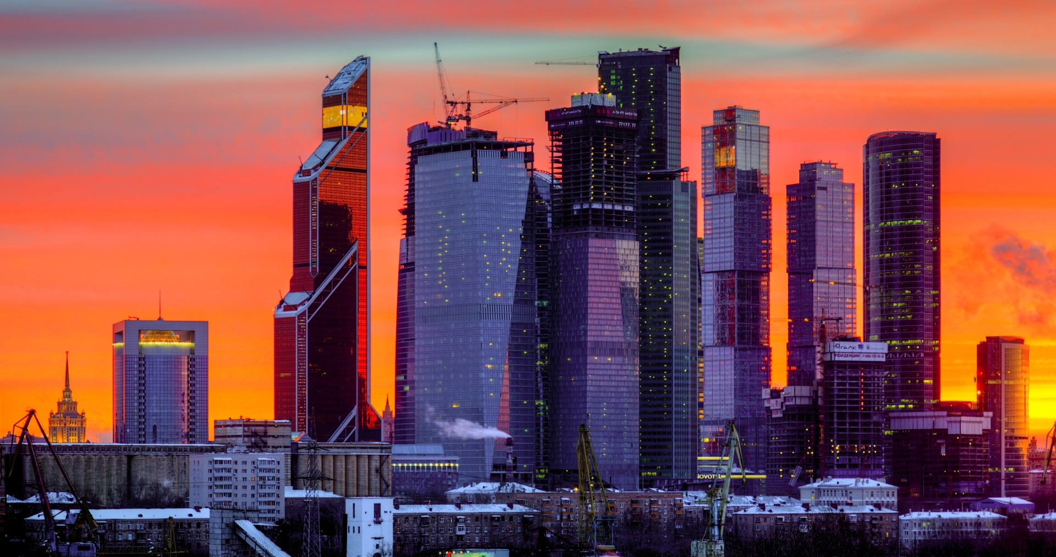 moscow city night tower 2000 4k ultra hd wallpaper World