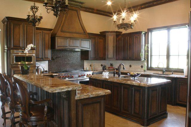 Dark Stained Kitchen Cabinets Google