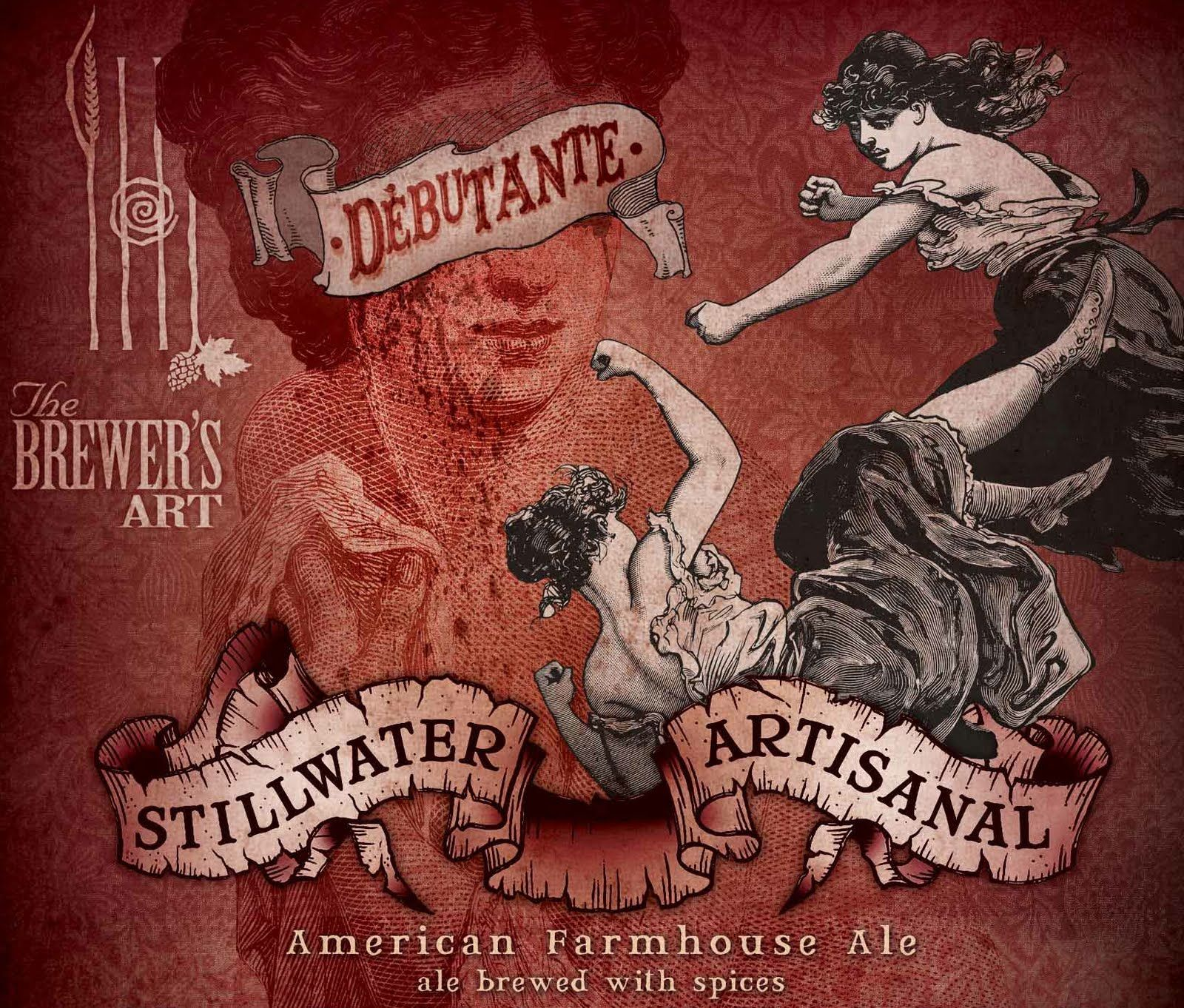 Stillwater Debutante Beer Label Design Still Water Beer Design