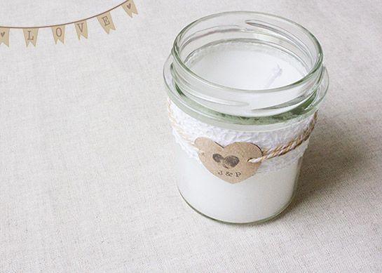 romantische kerzen im glas diy love hochzeit pinterest wedding and garland. Black Bedroom Furniture Sets. Home Design Ideas