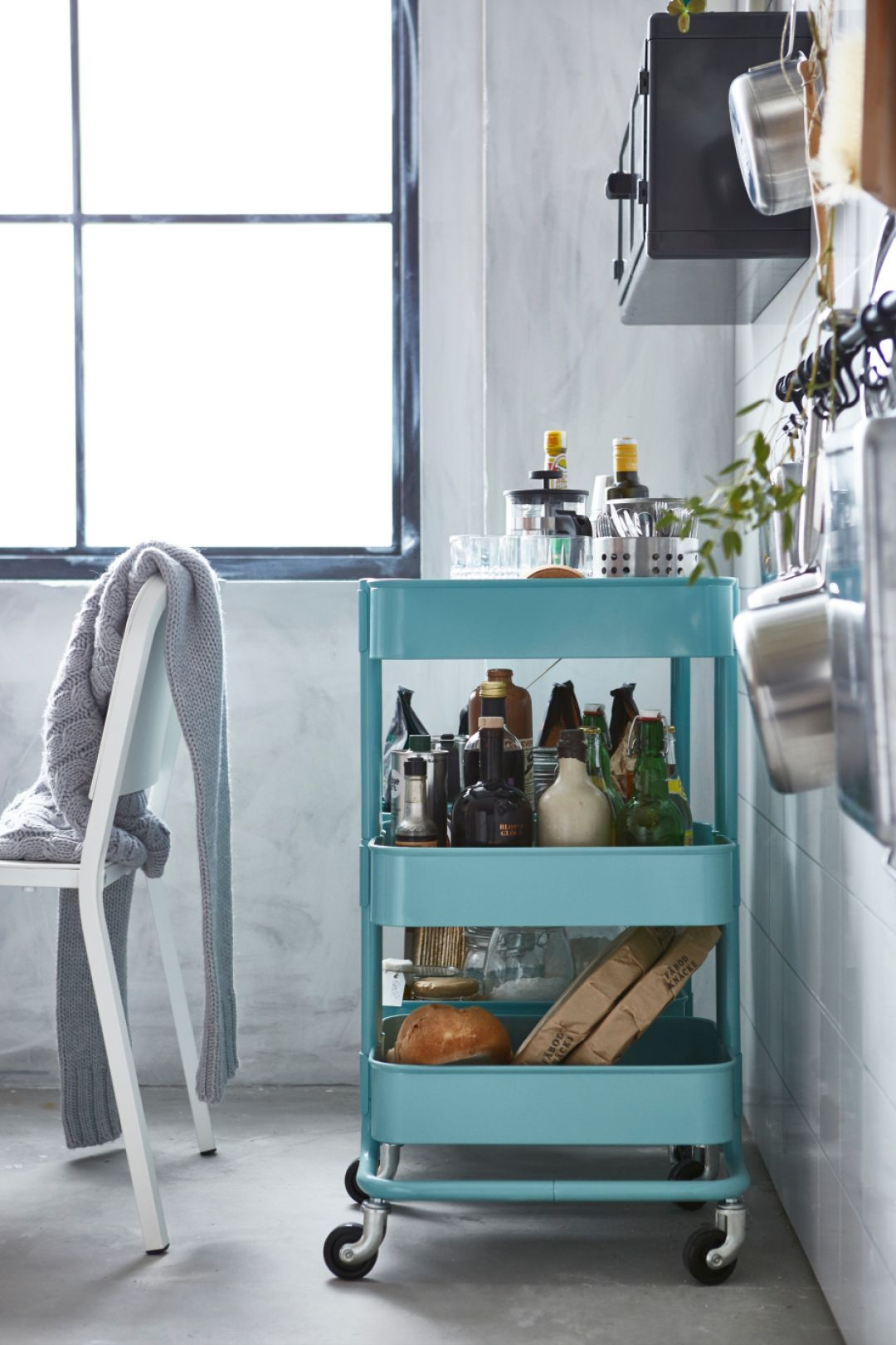 rÅskog trolley turquoise ikea australia home inspiration