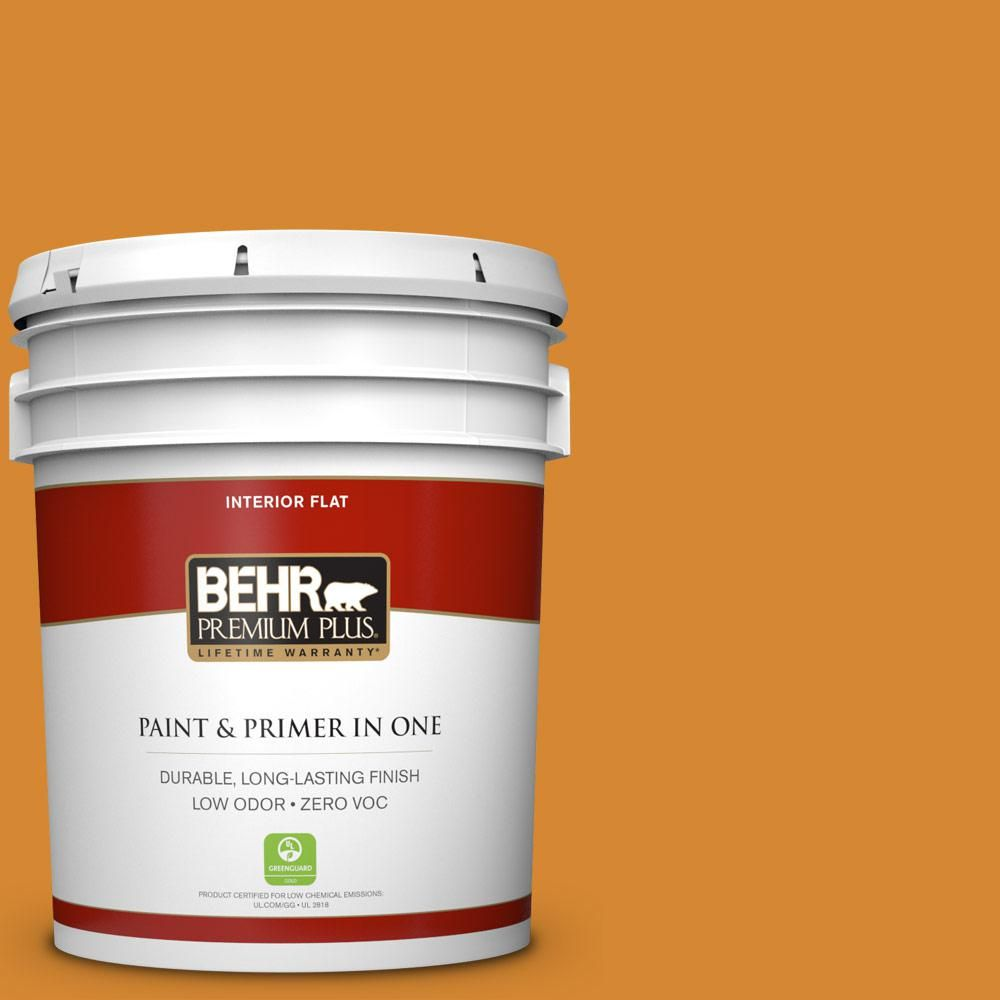 BEHR Premium Plus 5 gal. #S-H-300 Opulent Zero VOC Flat Interior Paint