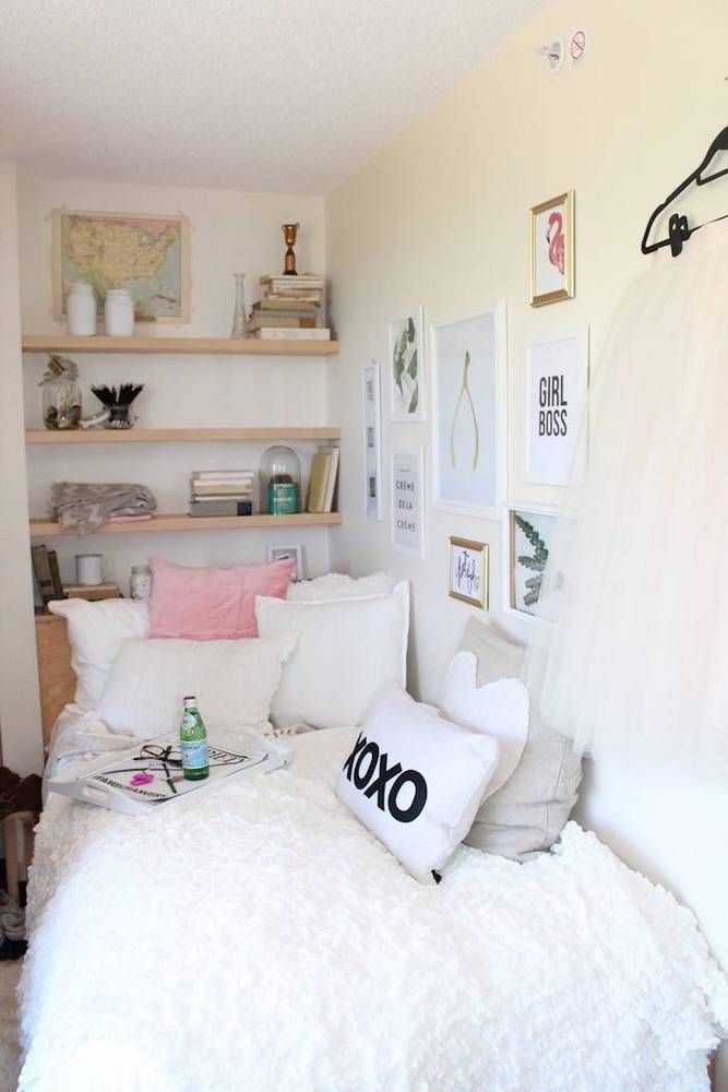 Dorm room decor ideas and small space hacks cute dorm - Small room ideas for teenage girl ...