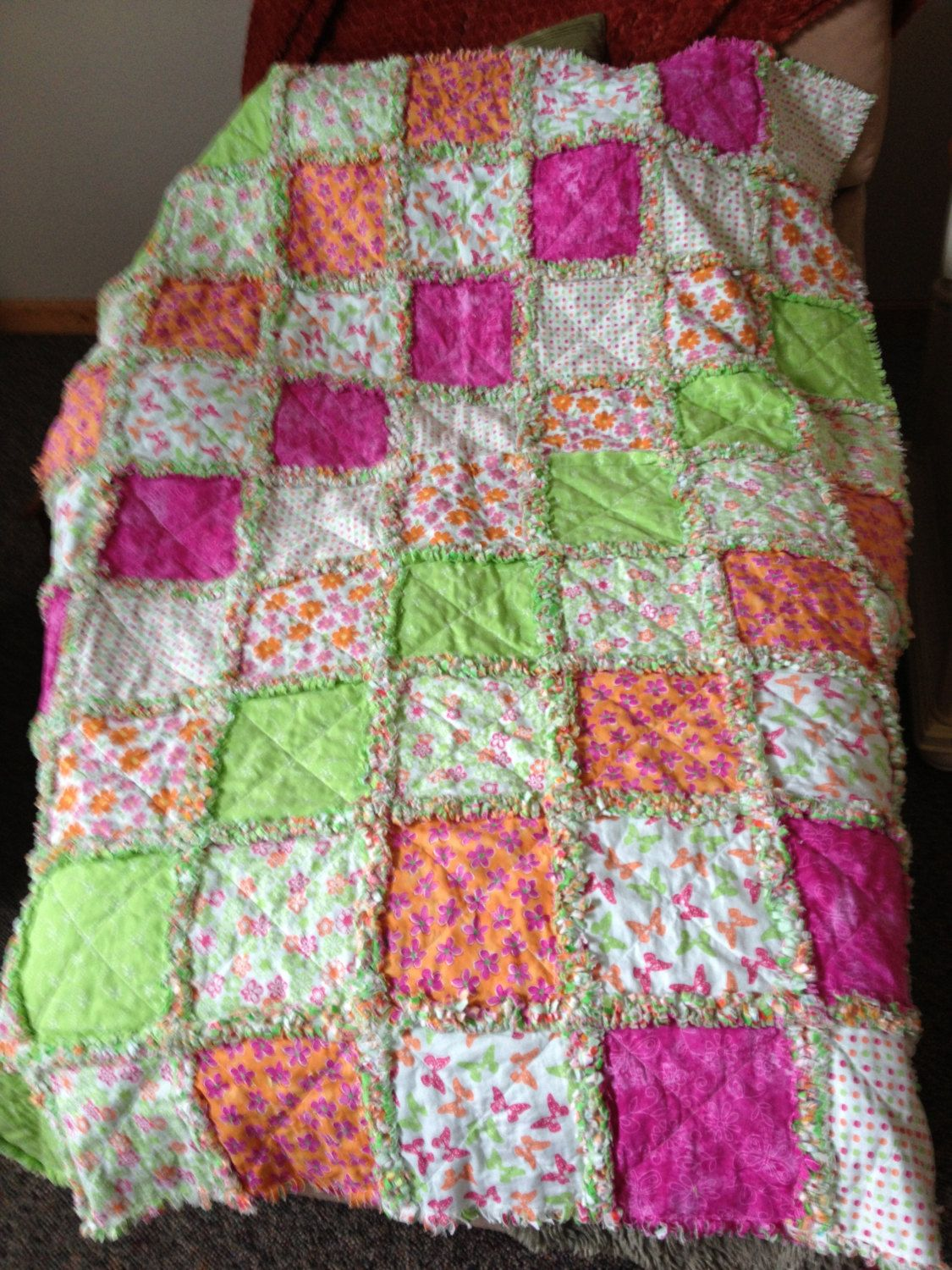 Rag Quilt. $150.00, via Etsy. | Quilts for sale. | Pinterest | Rag ... : rag quilt for sale - Adamdwight.com