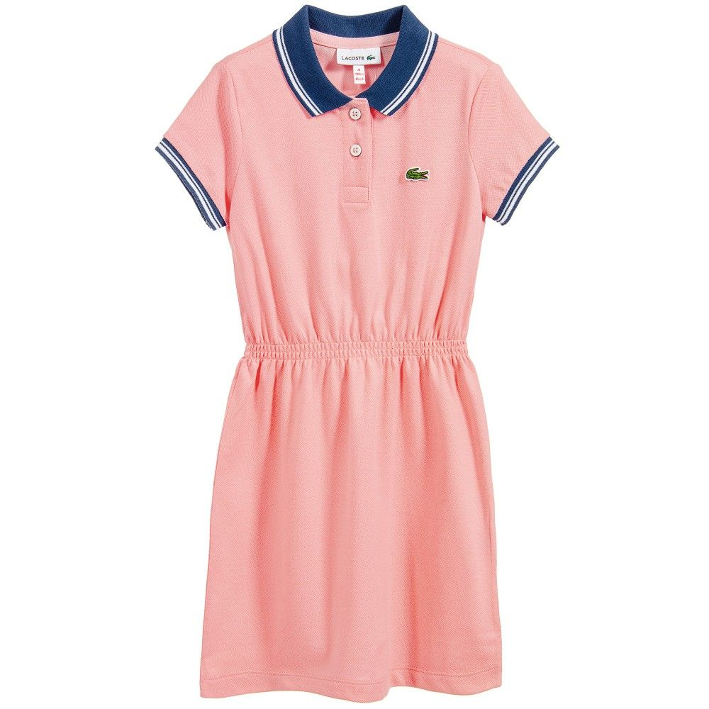 Pale Pink Cotton Piqu Polo Shirt Dress Lacoste Girl Shirts In