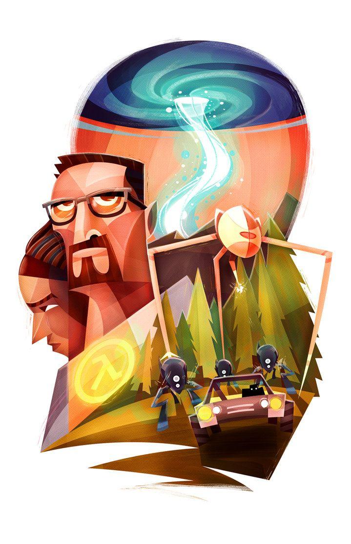 Half Life 2 Ep 2 Fan Art By Lerms On Deviantart Illustration Half Life Artwork