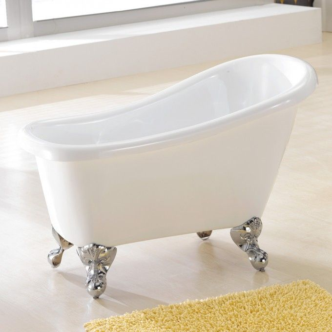 44 Carter Acrylic Mini Clawfoot Tub Clawfoot Tubs Bathtubs