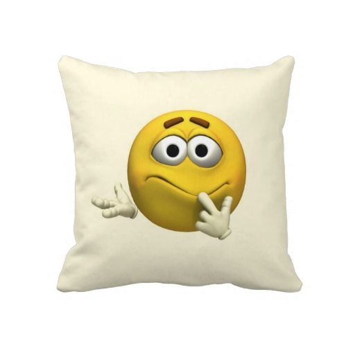 #Confused #Emoticon #Pillows