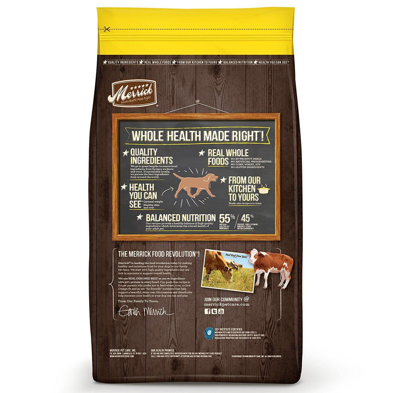 Merrick grain free healthy weight recipe check this