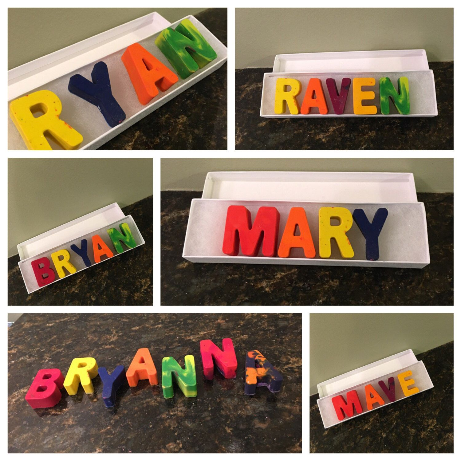 Name Crayon Custom Name Personalized Crayon Letters Kids Gifts Teacher Gifts