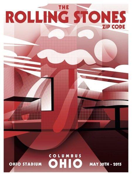 Book Cover Art Zip Code : Rolling stones columbus oh stadium zip code tour