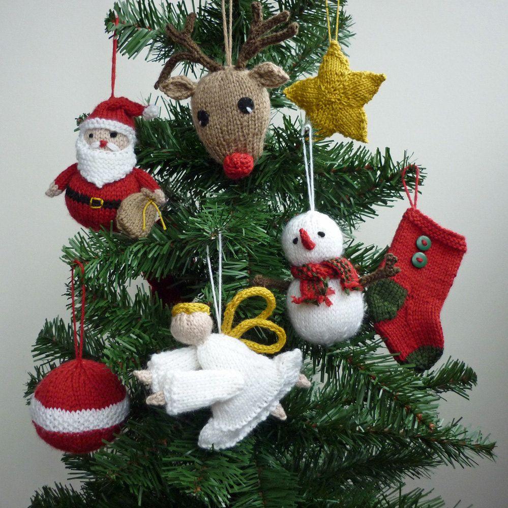 Christmas Ornaments Knitting Pattern, PDF Knitting Pattern ...
