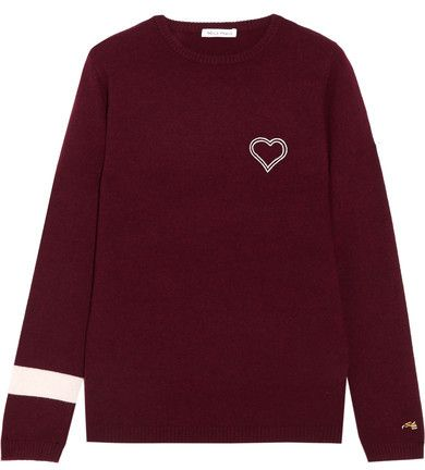 Bella Freud - Embroidered Cashmere Sweater - Burgundy | Fall ...