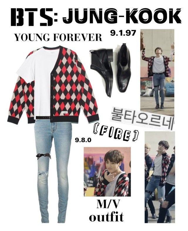 """""""BTS: JUNGKOOK Fire"""" M/V Outfit"""" by itzbrizo ❤ liked on Polyvore featuring Tom Ford, Yves Saint Laurent, Theory and Wet Seal"""