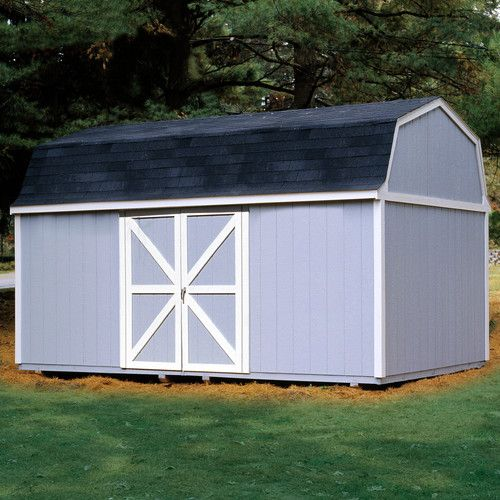 Berkley 11 Ft W X 16 Ft D Solid Manufactured Wood Storage Shed Wooden Storage Sheds Storage Building Kits Wood Storage Sheds