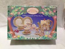 Country Cottage Childrens Ceramic Tea Party Set Vintage 1993 Kids