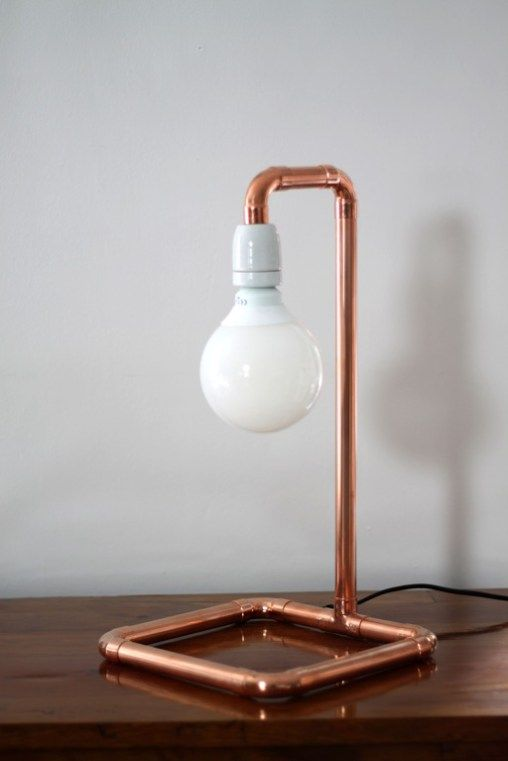 Kupferrohr Lampe In 2019 Kupferrohr Kupferlampe Und Lampen