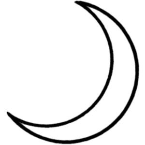 clip art image of cresent moon crescent moon public domain clip rh pinterest com crescent moon clip art free waxing crescent moon clipart