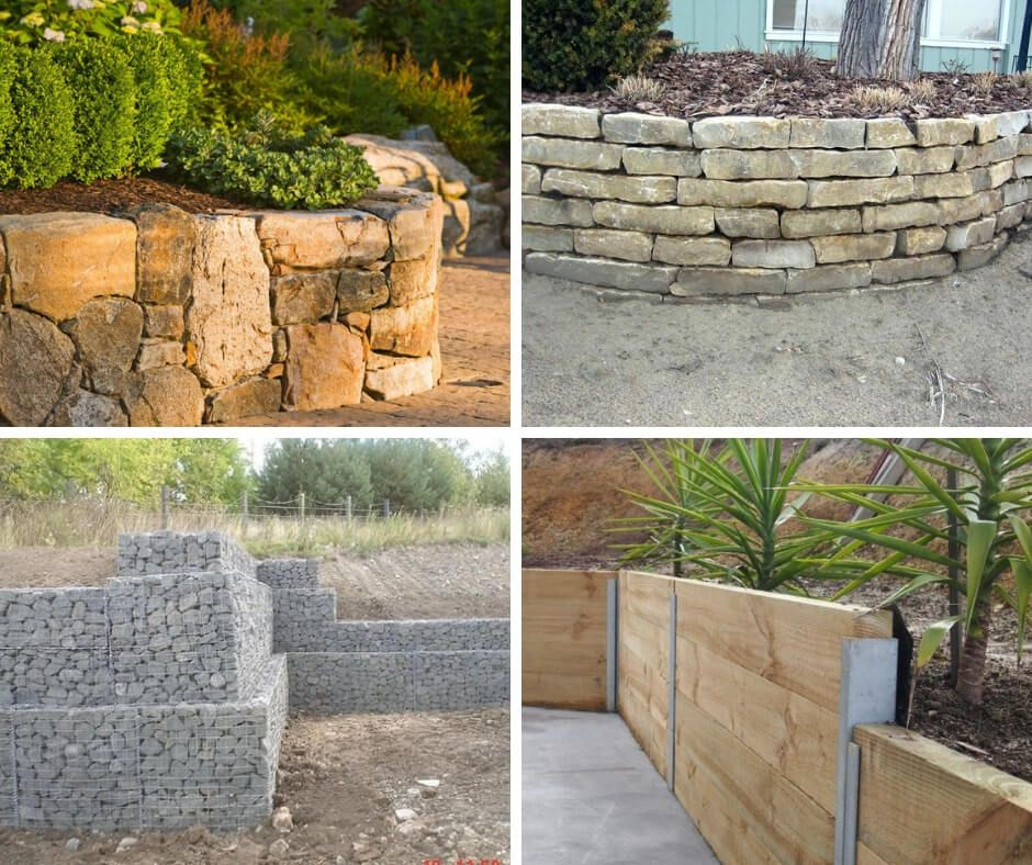 19 Different Types Of Retaining Wall Materials Designs With