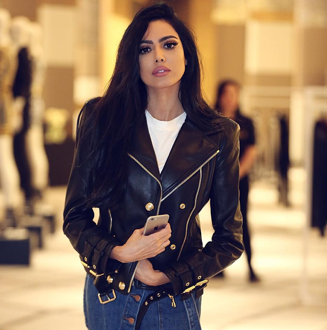 Leather jacket instagram - Fatima Almomen Falmomen Instagram Photos And Videos