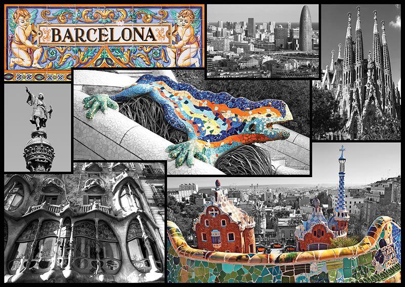Puzzle trefl de 500 piezas collage de barcelona puzzles ciudades de espa a barcelona - La casa del puzzle madrid ...