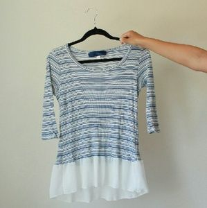 I just discovered this while shopping on Poshmark: Blue striped peplum blouse. Check it out! Price: $25 Size: S