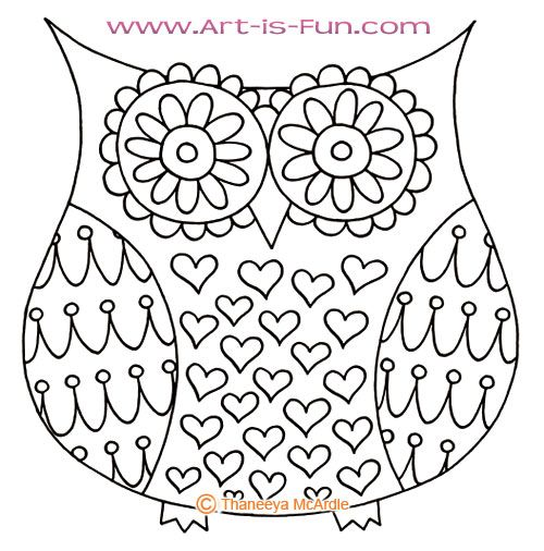 awesome coloring picture cute owl - Cute Owl Printable Coloring Pages