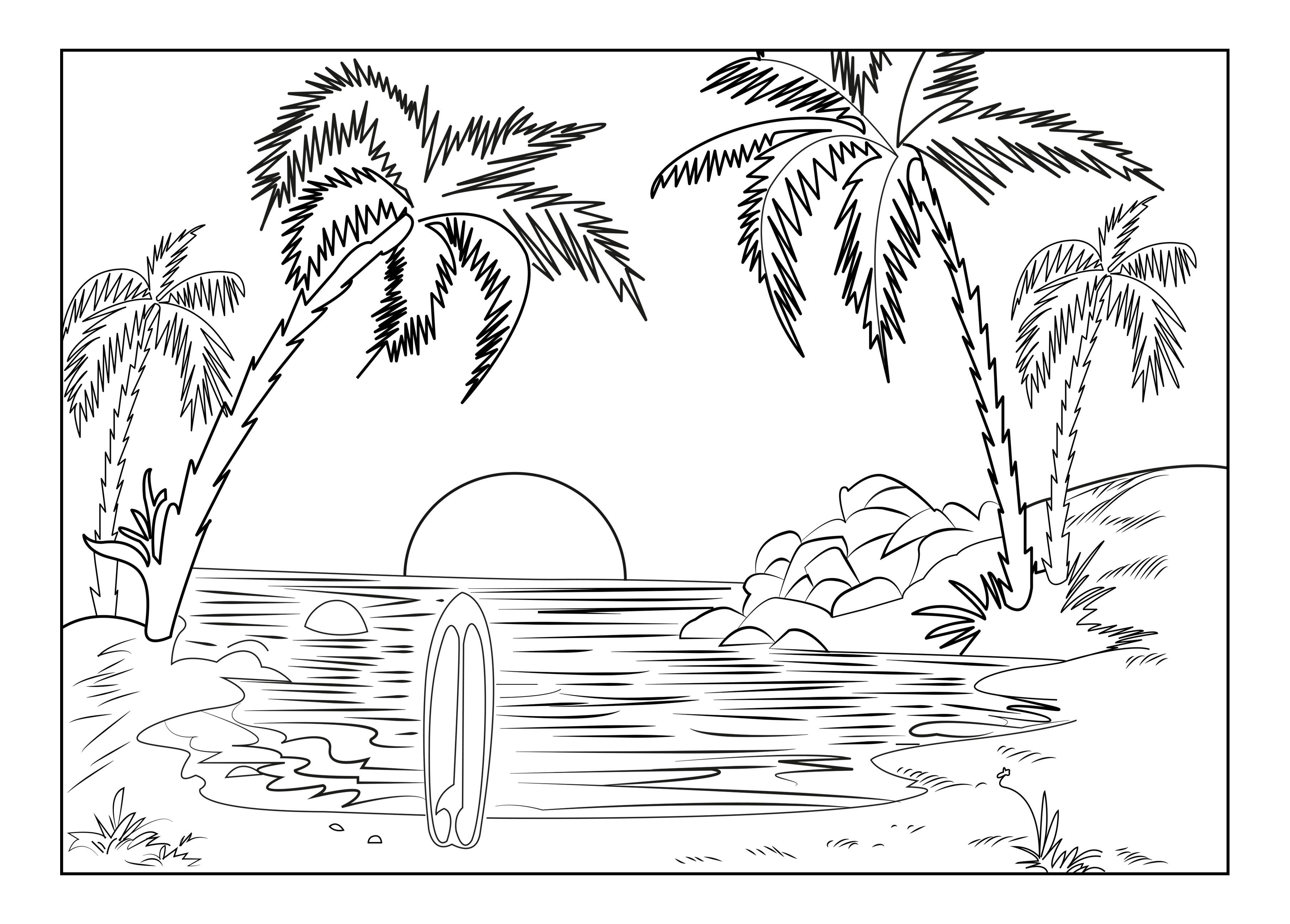 A Beautiful Landscape For The Summer Made By Celinefrom The Gallery Landscapesartist Celin Coloring Pages Nature Beach Coloring Pages Summer Coloring Pages