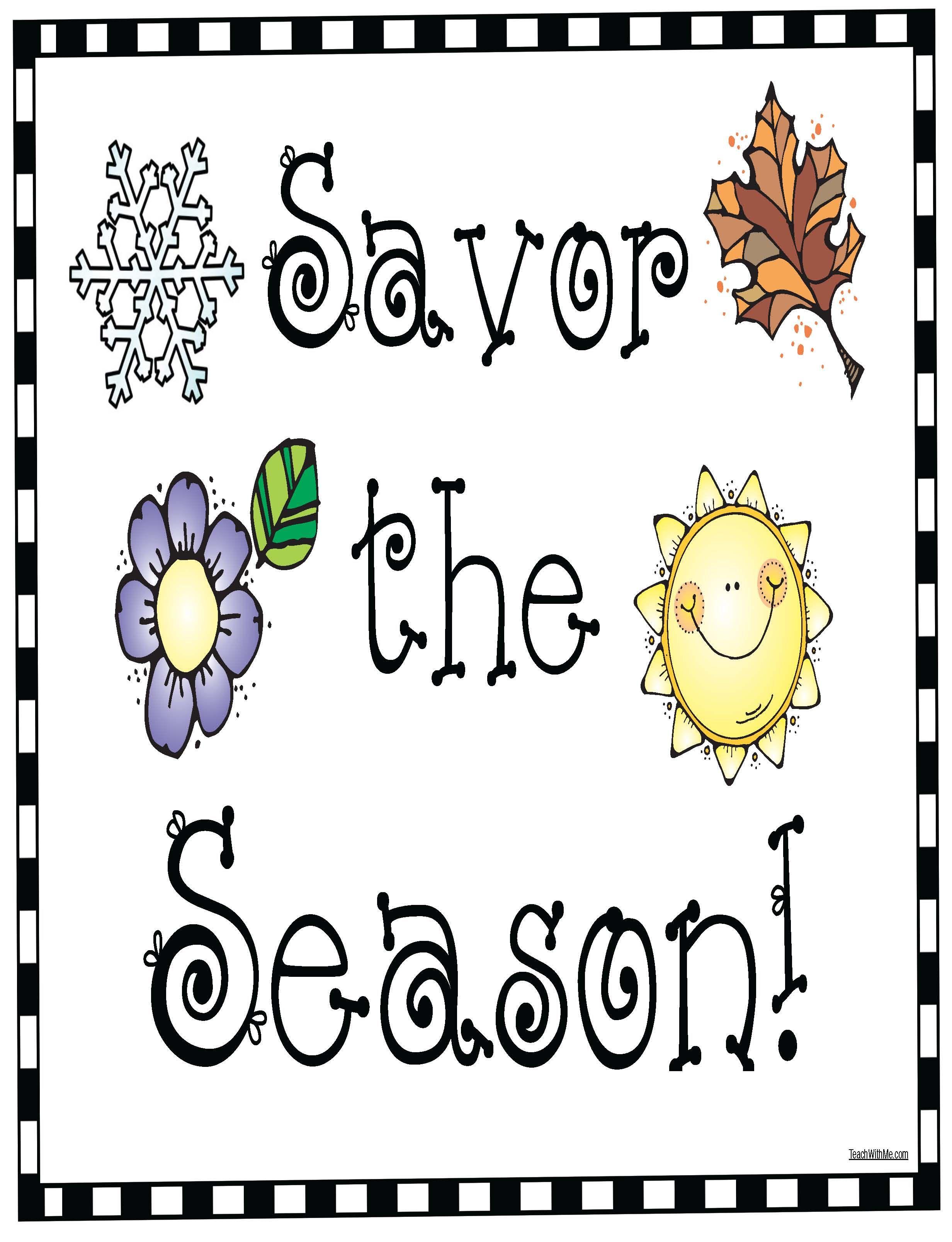 Seasons Amp Senses Activities Con Immagini