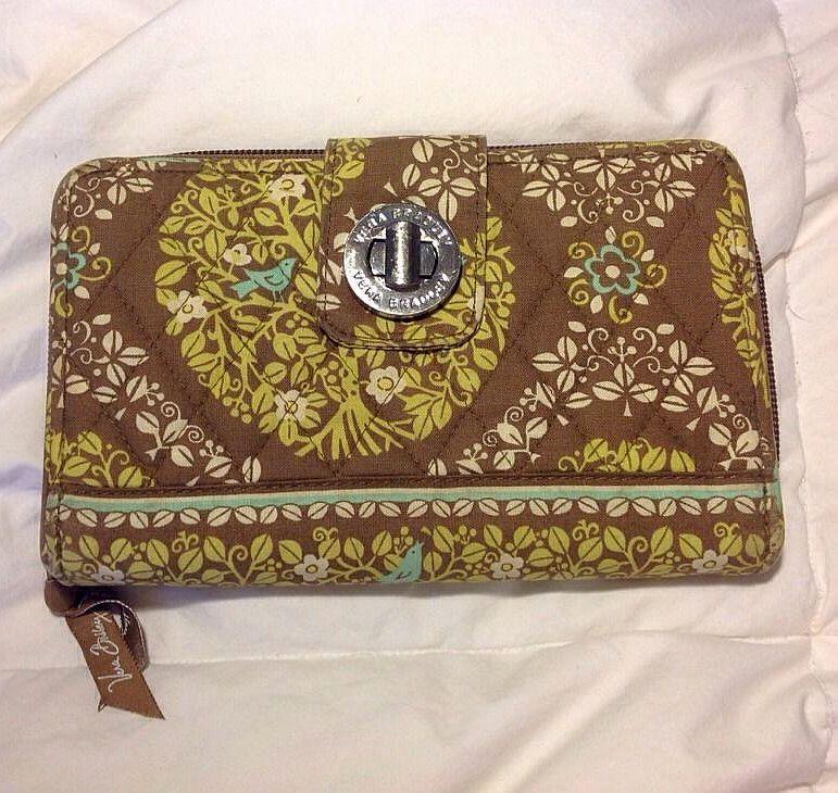 Vera Bradley Wallet (Women's Pre-owned Brown & Green Pattern Designer Wallet)