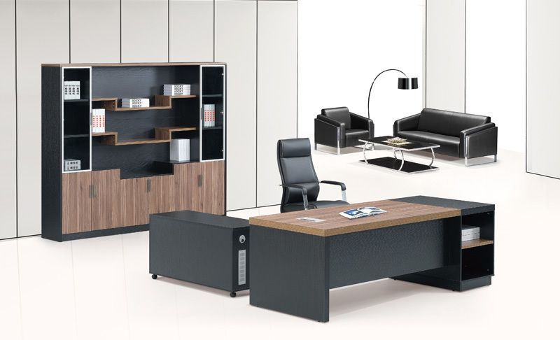 2017 new design luxury metal modern wooden office for Muebles para oficinas pequenas