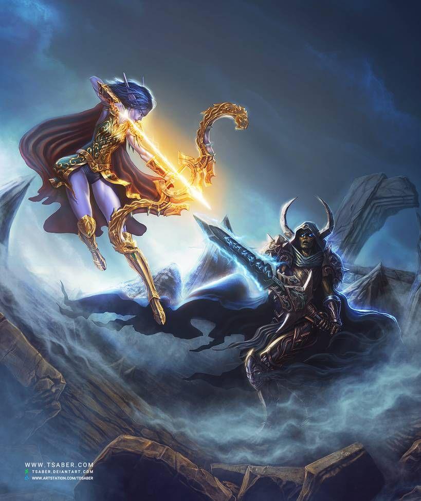 Elf archer vs undead warrior video wow by httpswww