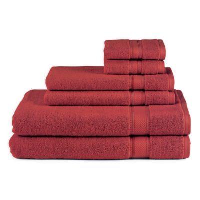 Avanti 6 Piece Splendor Towel Set Towel Towel Set Red Towels