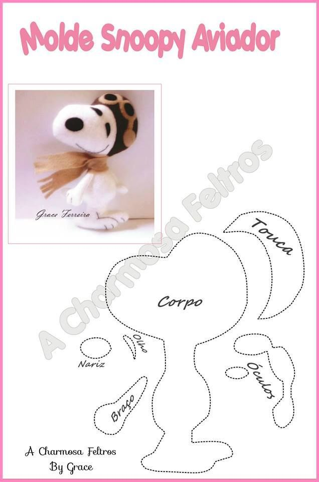 SNOOPY MOLDE | Templates | Pinterest | Felt, Snoopy and Felt patterns
