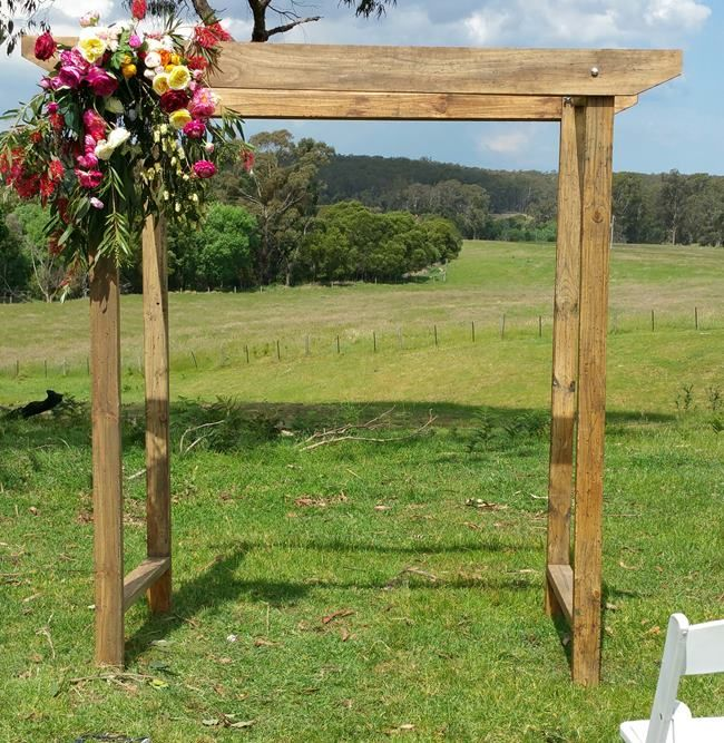 Wedding arch hire option 29 bare timber wedding arch draped with wedding arch hire option 29 bare timber wedding arch draped with flowers and greenery 280 junglespirit Image collections