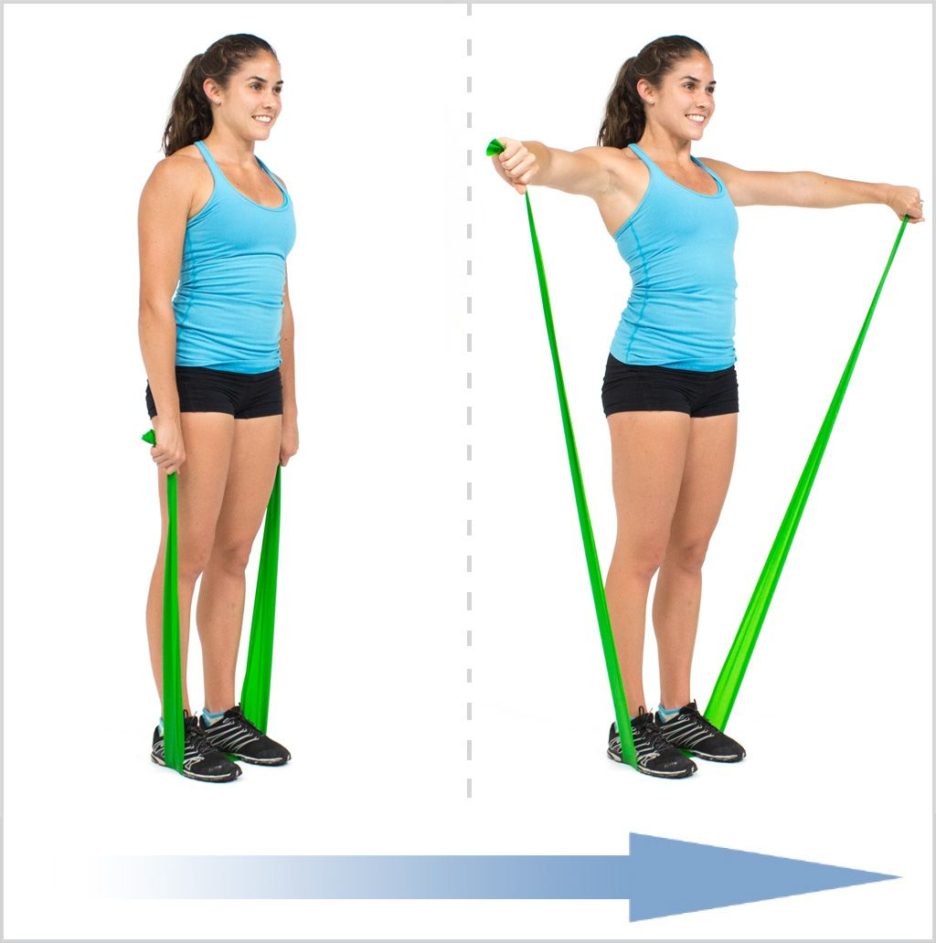 Lateral Raise With Flat Resistance Bands