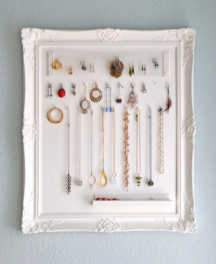 Jewelry hanging frame #DIY #Accessories | Christmas gift ideas ...