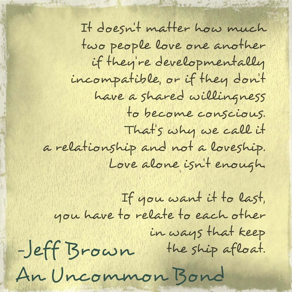 An Excerpt From My New Book- An Uncommon Bond. Love-ship