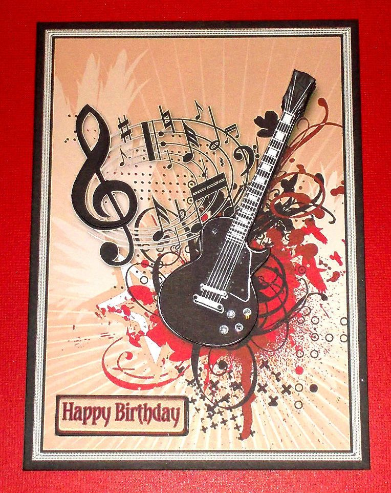 Stampin Up Guitar Card Birthday Cards Cards Musical Cards