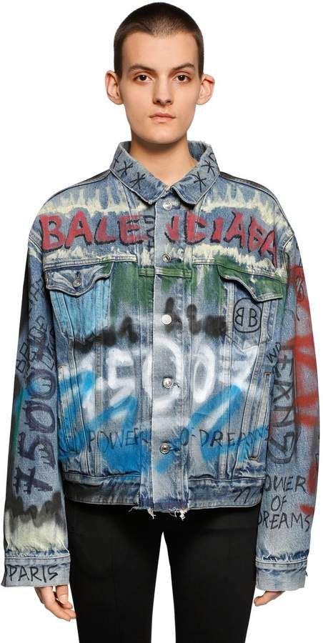 9420f3825ec Balenciaga Hand-Drawn Graffiti Denim Jacket