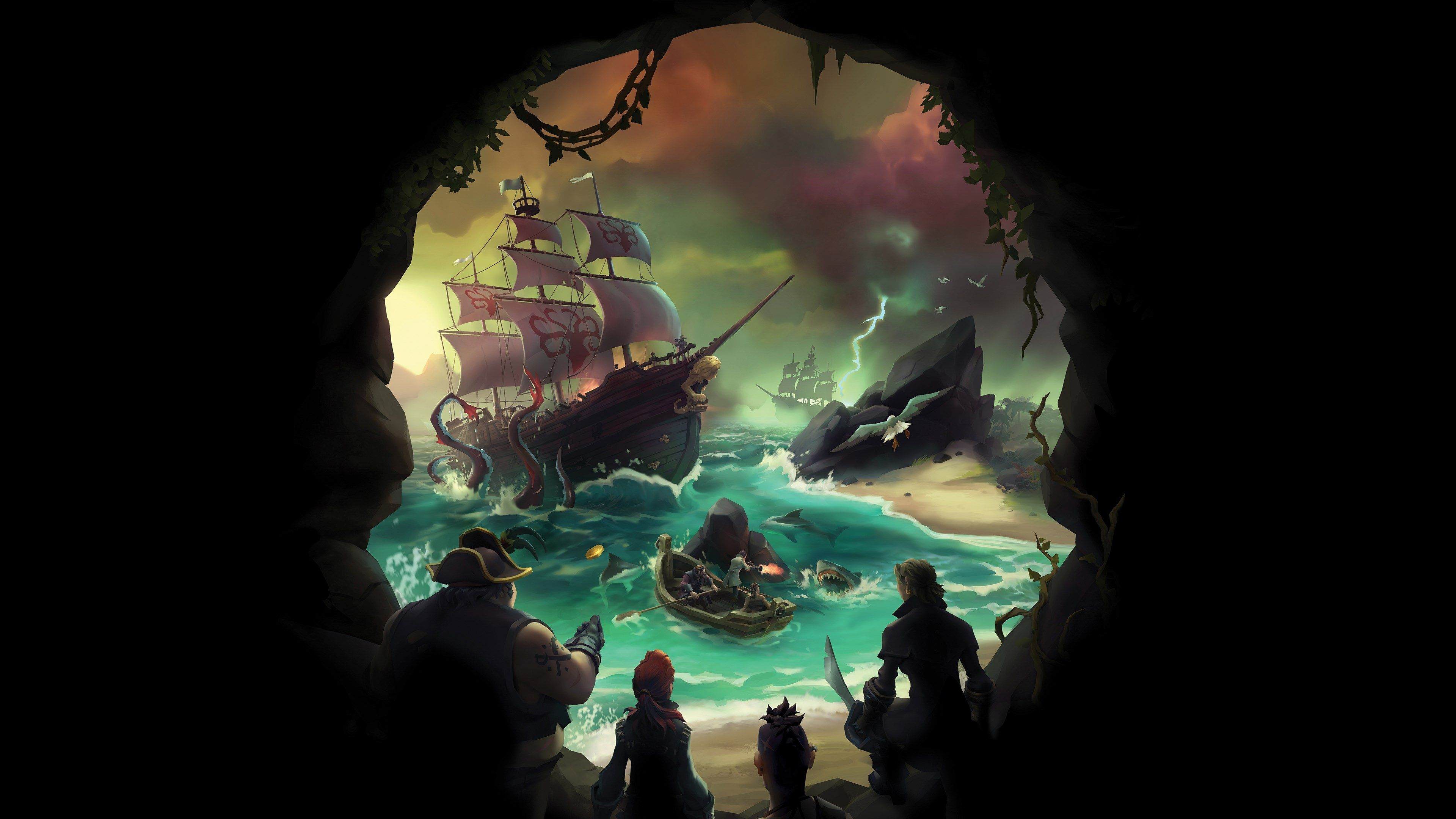 3840x2160 Sea Of Thieves 4k Hd Wallpaper For Macbook Pro Sea Of Thieves Sea Of Thieves Game Sea