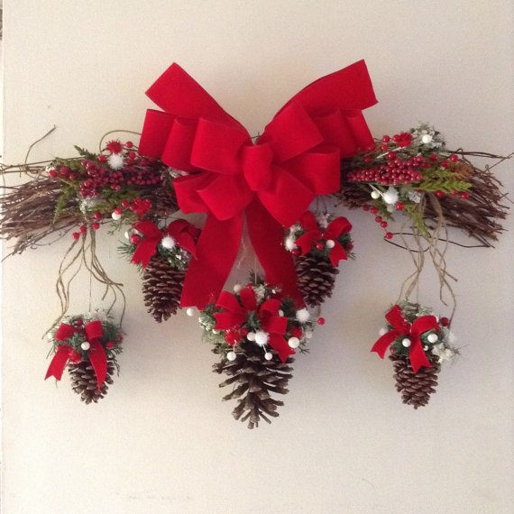 red and white christmas swag christmas vintage swag decorative grapevine branches in christmas decoration - Christmas Swag Decorations