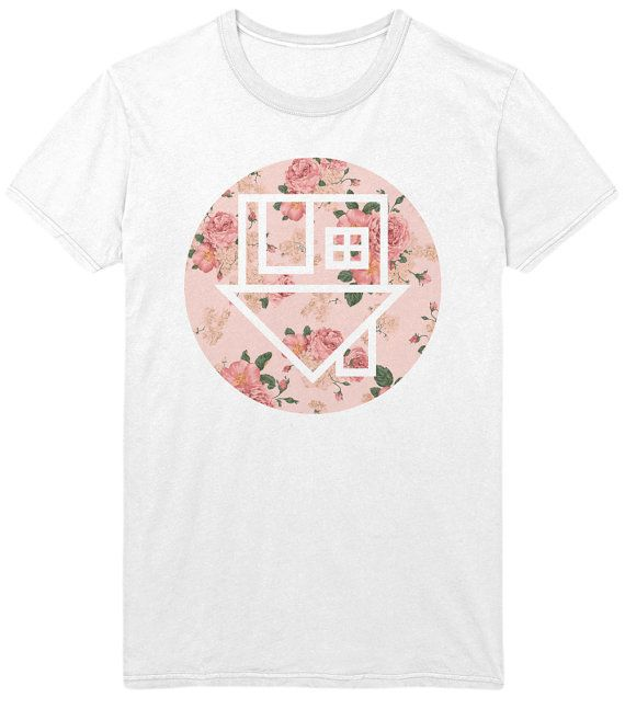 The Neighbourhood NBHD Floral Logo T-Shirt - Rose Flowers Indie Rock Music Shirt / Tank Top / Vest / Sweatshirt - Mens / Womens on Etsy, $15.00