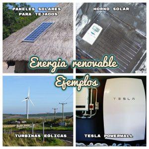 ENERGÍA RENOVABLE EJEMPLOS » Energía renovable