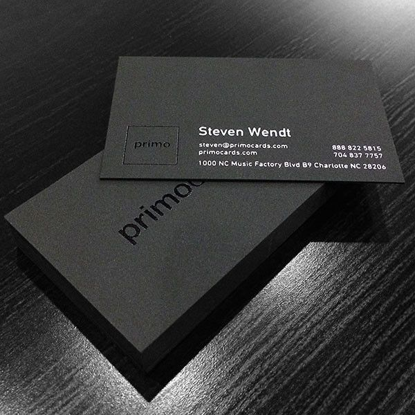 The Black Business Card printed by Primo Press #letterpress - letterpress business card