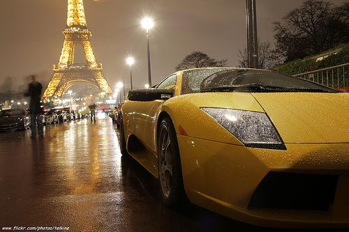 ламборджини в париже