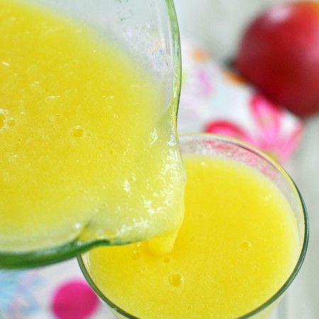 Orange Mango Lemonade Slush at The Well Floured Kitchen