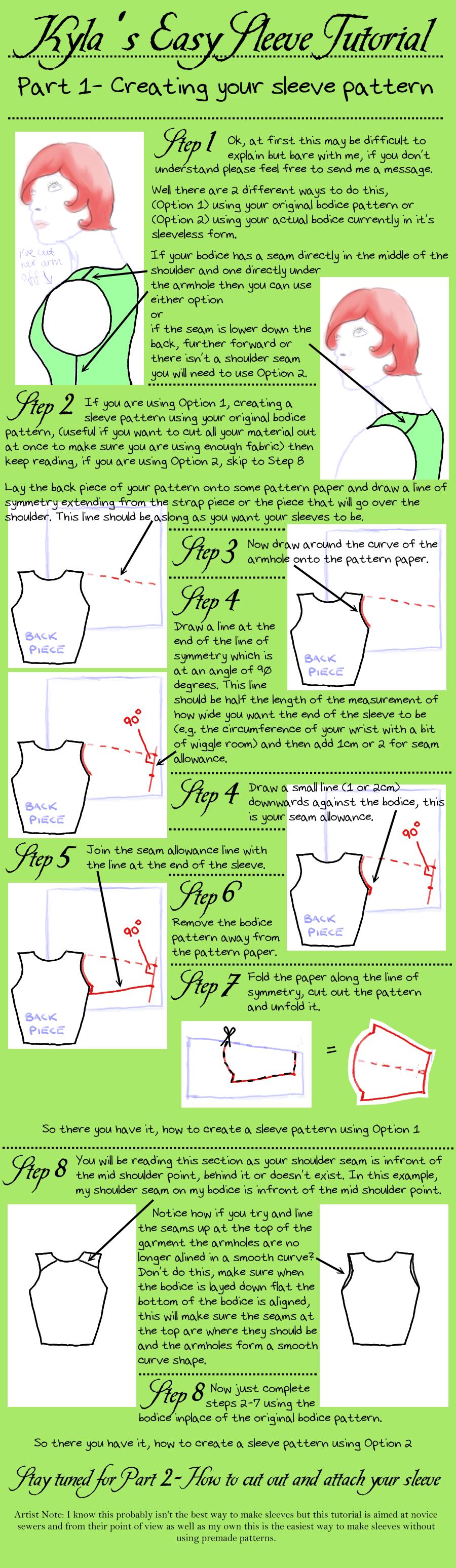 Easy Sleeve Tutorial by ScreamingInTheWoods.deviantart.com on ...