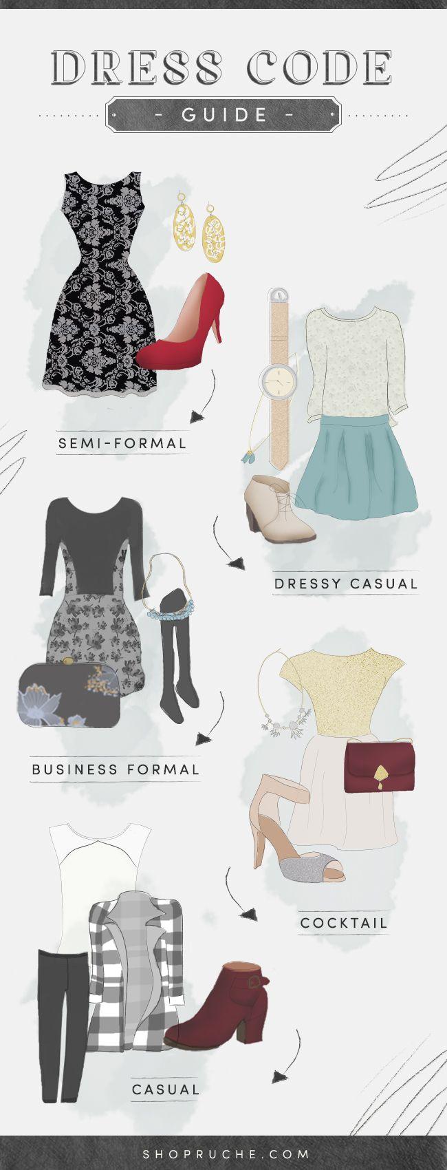 Decode the Dress Code (Ruche) | Dress code, Smoking und Dresscode ...